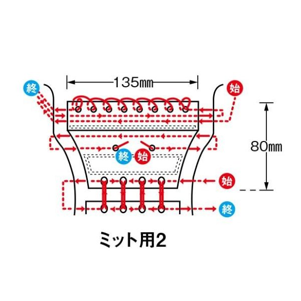 MIZUNO ミズノ 野球 メンテナンス用品 1GJYG11600 グラブ補修用ウェブ ミット用2|imoto-sports|02