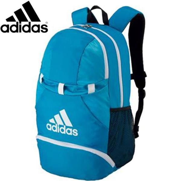 アディダス バッグ メンズ レディース ユニセックス ボールヨウデイパック アオ/シロ バックパック BAG トレーニングバッグ サッカー フットボー|imoto-sports