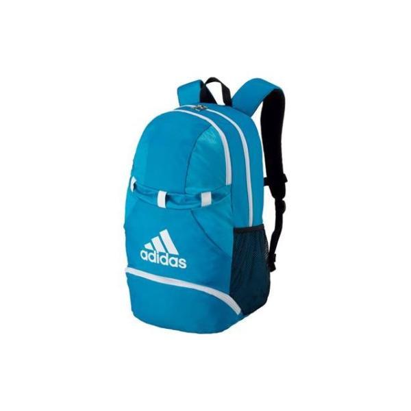 アディダス バッグ メンズ レディース ユニセックス ボールヨウデイパック アオ/シロ バックパック BAG トレーニングバッグ サッカー フットボー|imoto-sports|02