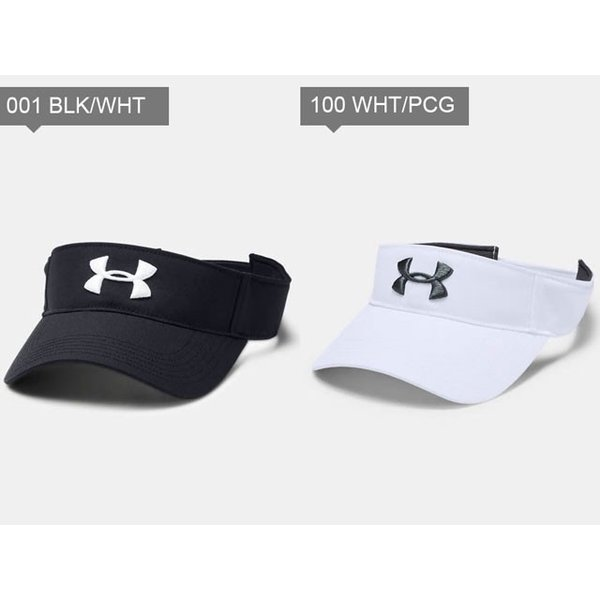 アンダーアーマー メンズ サンバイザー キャップ 帽子 1328676 ゴルフ UA コアゴルフバイザー ヒートギア サイズ調節可能|imoto-sports|02