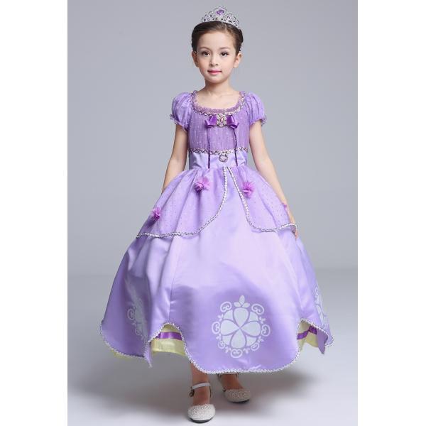 b4797017c16c1 ... ソフィア 風 ドレス プリンセス ロングドレス コスプレ 衣装 子供 こども用 しっかり4層構造 立体