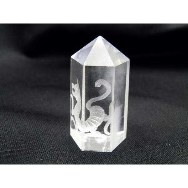 水晶彫刻ポイント 白虎 20×45mm 現品 置物 風水 パワーストーン プチギフト 転勤 退職 お礼 母の日 敬老の日 クリスマス ギフト