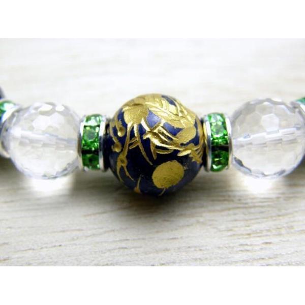 ラピスラズリ金龍彫り 水晶&オニキス ブレスレット アウトレット 風水 パワーストーン