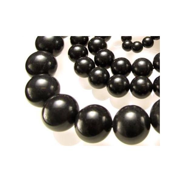 天然石 北海道産 ブラックシリカ 一連 10mm 二酸化珪素・炭素などを含む黒鉛珪石 ブラックシリカ 送料無料 高級品 パワーストーン