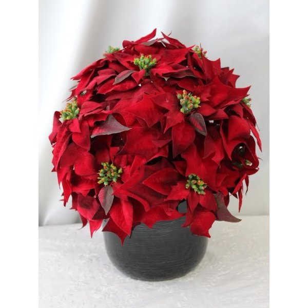 造花 クリスマス ポインセチア アレンジ インテリア  M-233|impish