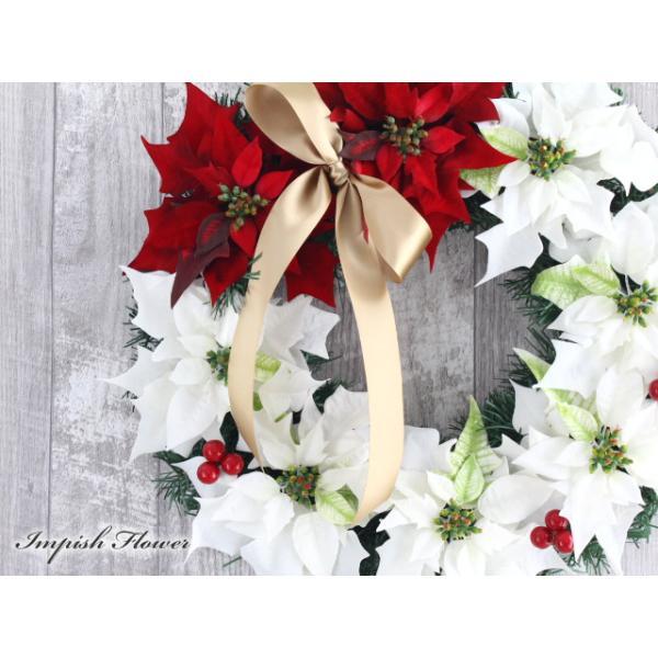 クリスマスリース 40cm 造花 クリスマス リース  W-245|impish|02