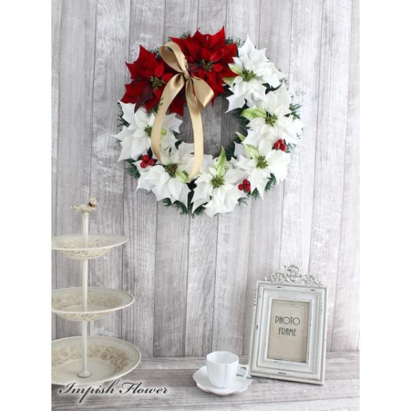 クリスマスリース 40cm 造花 クリスマス リース  W-245|impish|03