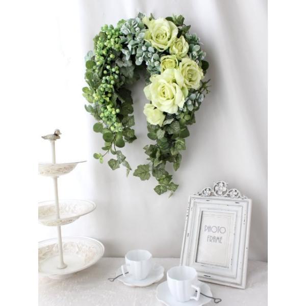 造花 リース アートフラワー  壁掛け シルクフラワー アレンジメント  W-355|impish|03