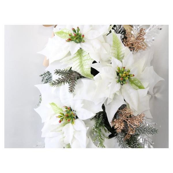 クリスマスリース 造花 クリスマス リース  壁掛け スワッグ   W-373|impish|02