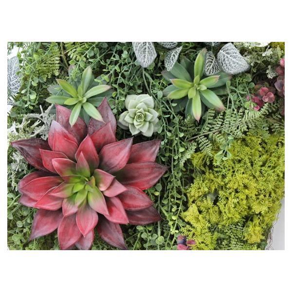 造花 リース アートフラワー  壁掛け インテリア グリーン  W-404|impish|03