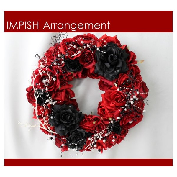 造花 リース アートフラワー  壁掛け シルクフラワー アレンジメント  W-441|impish