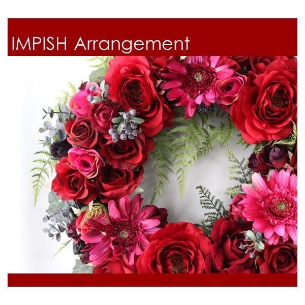 造花 リース アートフラワー  壁掛け シルクフラワー アレンジメント  W-453|impish|02