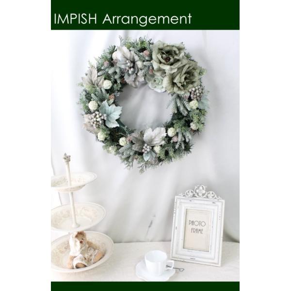 クリスマスリース 造花 クリスマス リース   W-455|impish|03