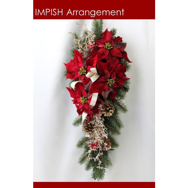 クリスマスリース 造花 クリスマス リース  壁掛け スワッグ   W-458|impish