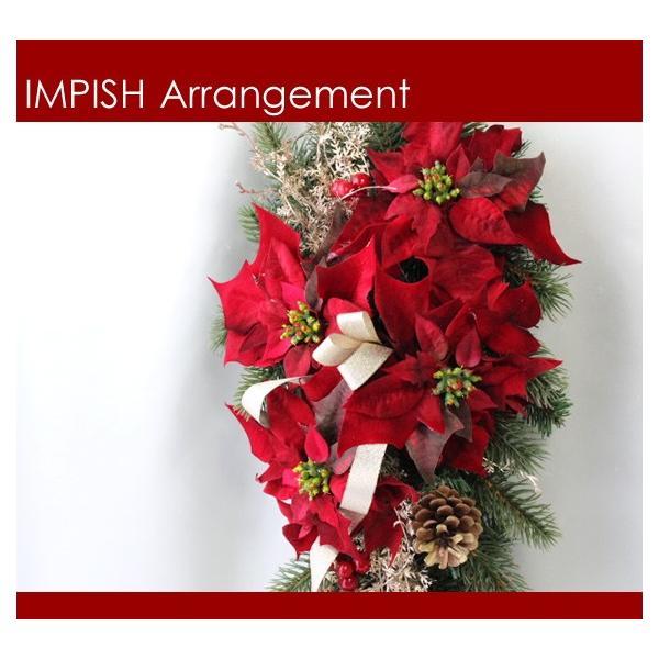 クリスマスリース 造花 クリスマス リース  壁掛け スワッグ   W-458|impish|02