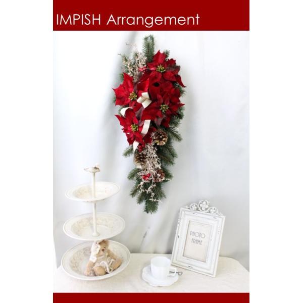 クリスマスリース 造花 クリスマス リース  壁掛け スワッグ   W-458|impish|03