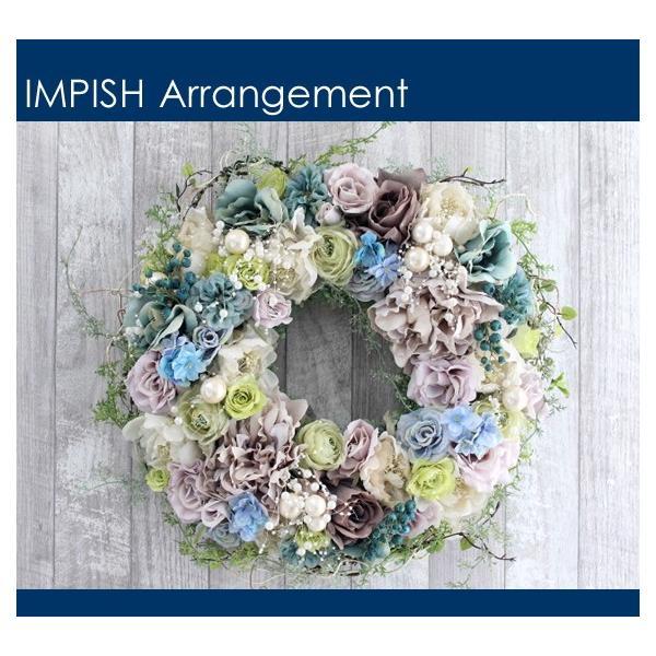 造花 リース 壁掛け アートフラワー インテリア アレンジメント  W-537|impish