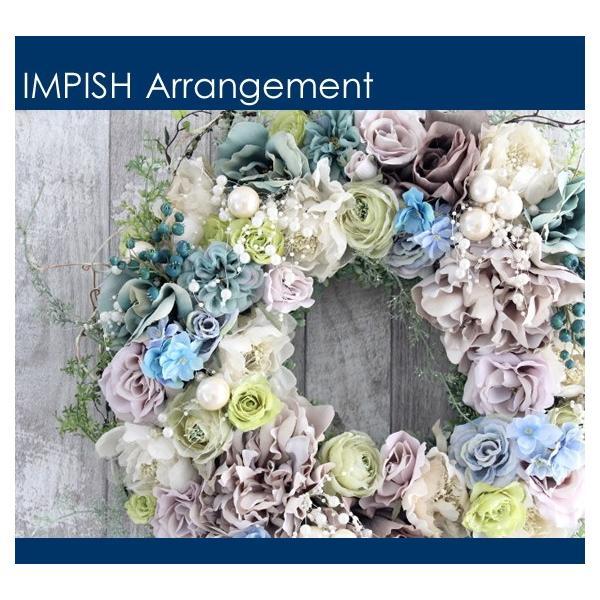 造花 リース 壁掛け アートフラワー インテリア アレンジメント  W-537|impish|02