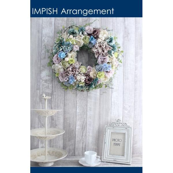 造花 リース 壁掛け アートフラワー インテリア アレンジメント  W-537|impish|03