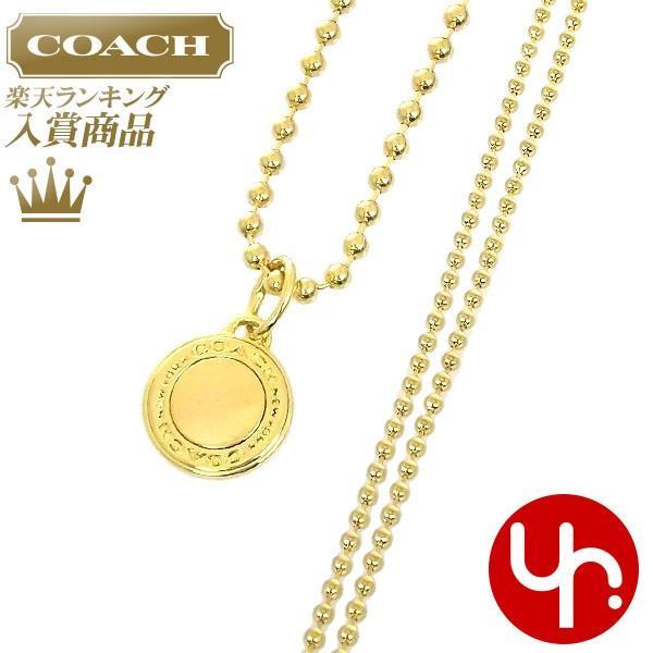 958dad583d60 コーチ COACH アクセサリー ネックレス F99750 ゴールド ロゴ チャーム ネックレス (ボックス付き) アウトレット レディース ...