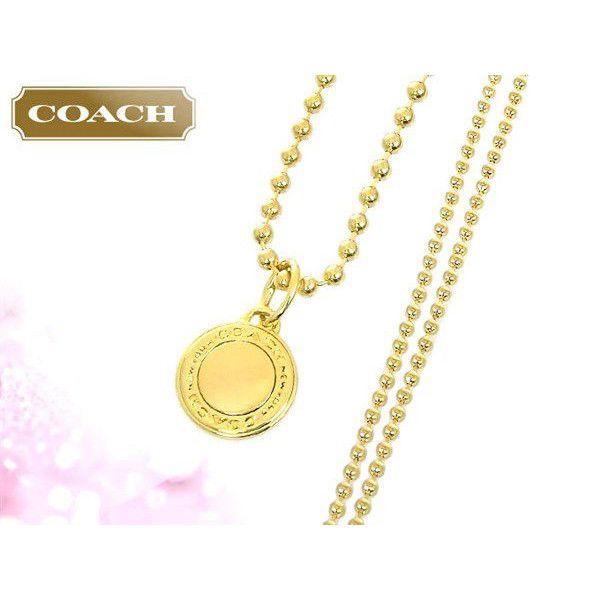 24e055514479 ... コーチ COACH アクセサリー ネックレス F99750 ゴールド ロゴ チャーム ネックレス (ボックス付き) アウトレット レディース  ...