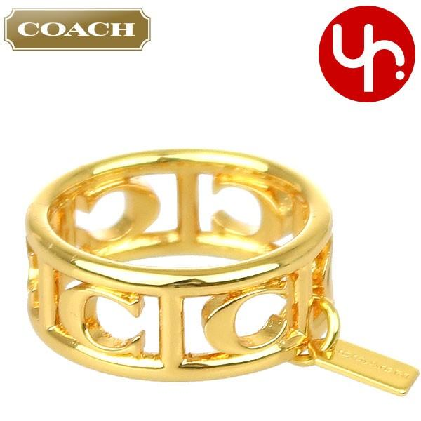 a82058ecaa1d コーチ COACH アクセサリー 指輪 F90750 ゴールド シグネチャー C リング (ボックス付き) (6、 ...