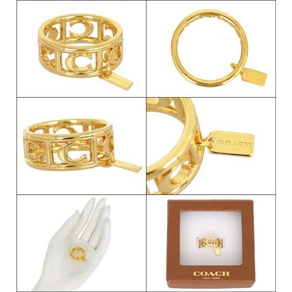 504f245201f6 ... コーチ COACH アクセサリー 指輪 F90750 ゴールド シグネチャー C リング (ボックス付き) (6、 ...