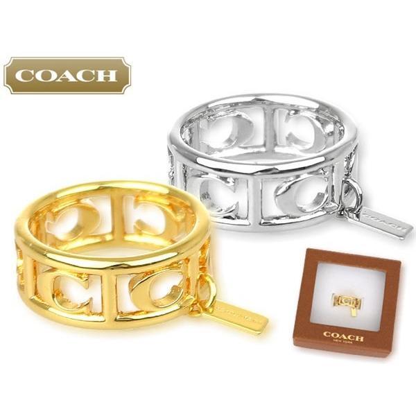 55df3dedc29d ... コーチ COACH アクセサリー 指輪 F90750 シルバー シグネチャー C リング (ボックス付き) (6、 ...