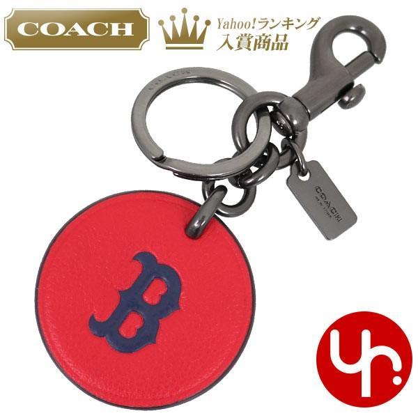 df30b35fc285 コーチ COACH アクセサリー キーホルダー F59409 ボストン レッドソックス コーチ×MLB コラボ レザー キーリング アウトレット メンズ  ...