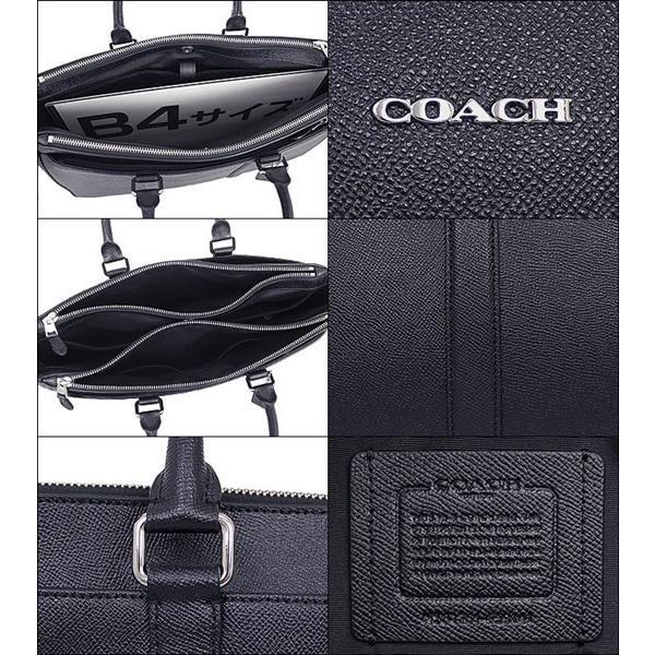 41513edfb356 ... コーチ COACH バッグ ビジネスバッグ F59141 ブラック メトロポリタン クロスグレーン レザー ビジネス トート アウトレット  メンズ レディース ...