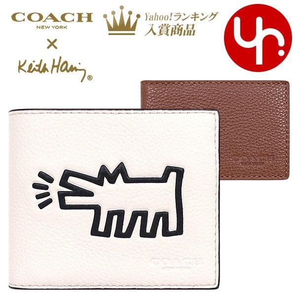 7602b539ccb0 コーチ COACH 財布 二つ折り財布 F87103 チョーク コーチ×キース・ヘリング 3IN1 ペブルド レザー ...