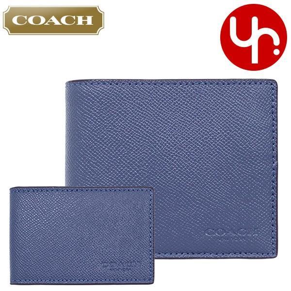 コーチ COACH 財布 二つ折り財布 F59112 3IN1 クロスグレーン レザー コンパクト ID ウォレット アウトレット メンズ import-collection-yr 22