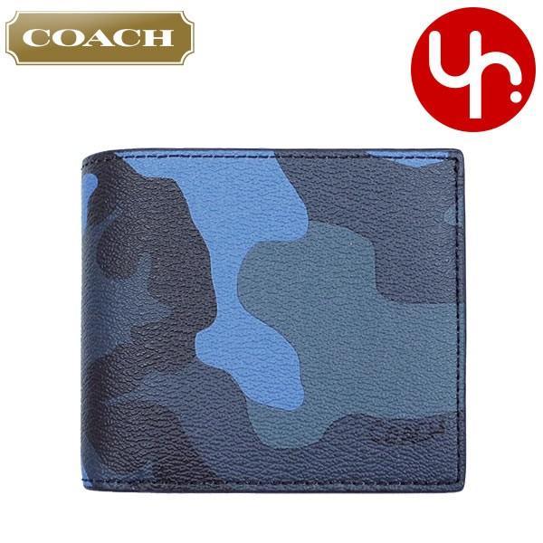 2a2be113869b コーチ COACH 財布 二つ折り財布 F32438 ダスクマルチ 3IN1 カモフラージュ プリント PVC レザー コンパクト ID コイン  ウォレット アウトレット メンズ