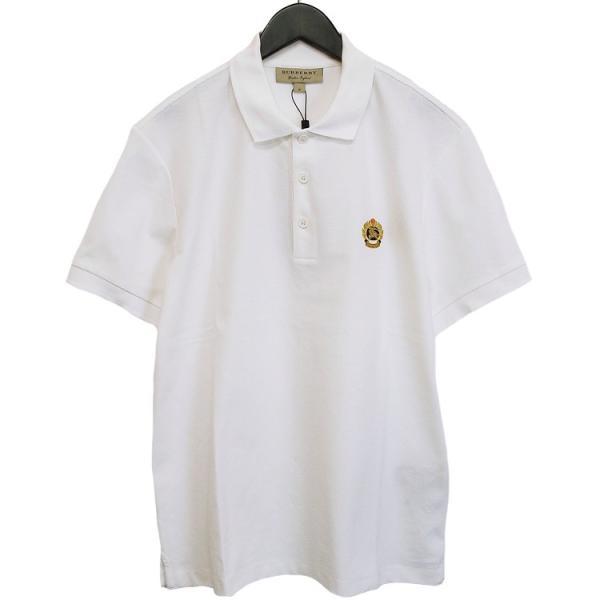 バーバリー BURBERRY チェックプラケット コットンポロシャツ 8003021-A1464 WHITE|importbrand-jp|02