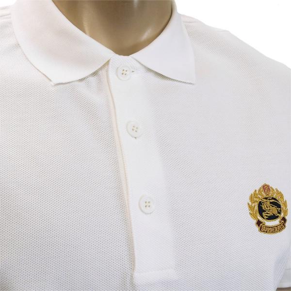 バーバリー BURBERRY チェックプラケット コットンポロシャツ 8003021-A1464 WHITE|importbrand-jp|03