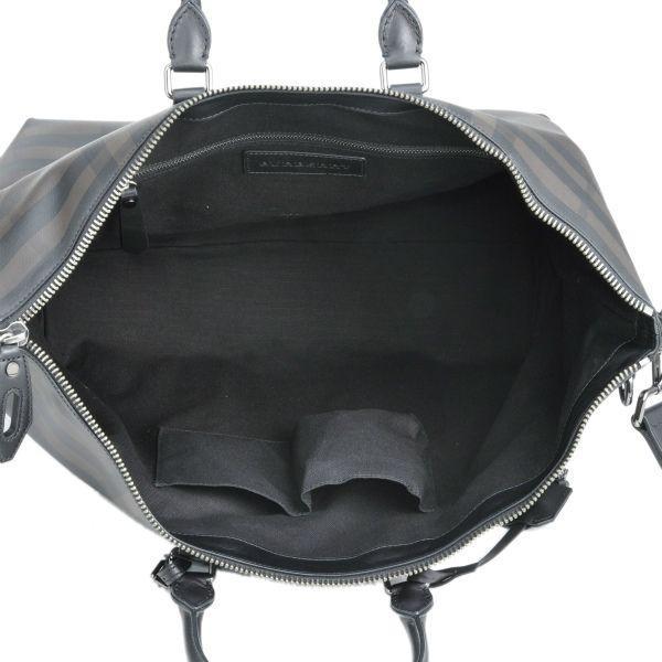 バーバリー/BURBERRY バッグ メンズ PVC ボストンバッグ ショルダーバッグ ブラック ダークブラウン 3876250-PCAL-0010T|importbrandgrace|02