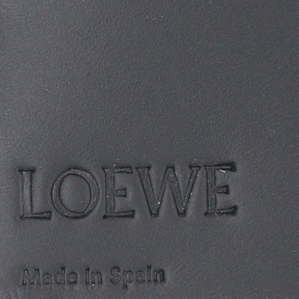 d8096ff948e6 ... ロエベ 2つ折り長財布 LOEWE 財布 メンズ LINEN BLACK 2019年春夏新作 10188978