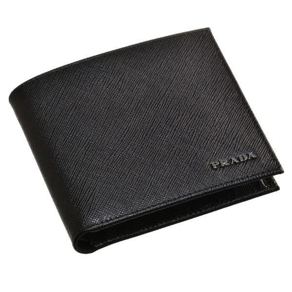 on sale 59da9 09bd6 プラダ 2つ折り財布 PRADA 財布 メンズ サフィアーノビコローレ ...