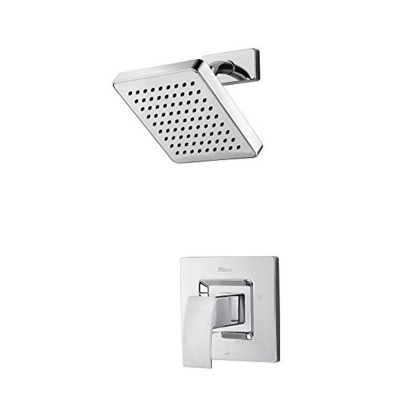 Pfister R89-7DFC Kenzo 1-Handle Shower Only Trim Polished Chrome Price Pfister R897DFC