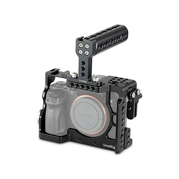 SMALLRIG Camera Cage for Sony Alpha A7 II/A7R II/A7S II Mirrorless Digital Camera with Top Handle and HDMI Cable Lock - 2014【並行輸入品】