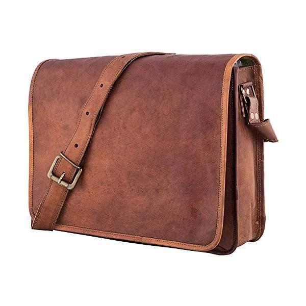 """Bag Leather Vintage Messenger Shoulder Men 15/""""Satchel S Laptop School Briefcase"""
