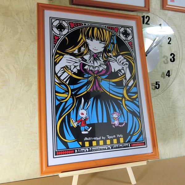 灯夜雪 「不思議の国のアリス」 人形劇 切り絵アート 額付き A3サイズ|importedstickers|03