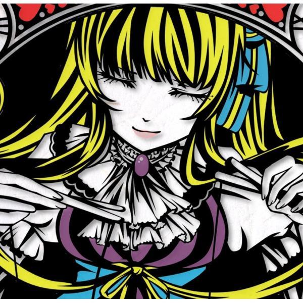 灯夜雪 「不思議の国のアリス」 人形劇 切り絵アート 額付き B4サイズ|importedstickers|02