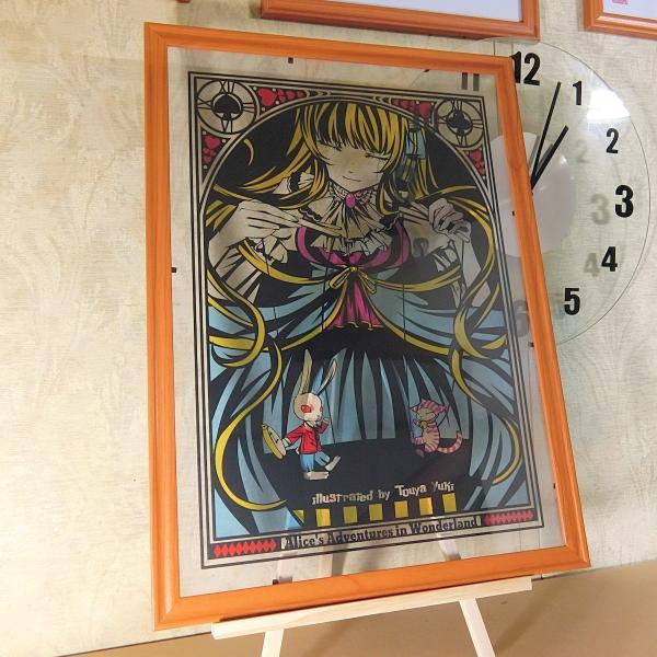 灯夜雪 「不思議の国のアリス」 人形劇 切り絵アート 額付き B4サイズ|importedstickers|04