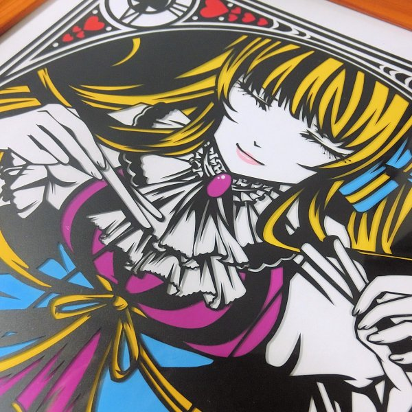 灯夜雪 「不思議の国のアリス」 人形劇 切り絵アート 額付き B4サイズ|importedstickers|05
