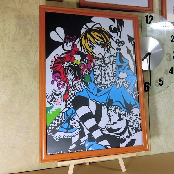 灯夜雪 「少年アリス(カラーVer)」 ふしぎの国のアリス 切り絵アート 額付き A3サイズ|importedstickers|03