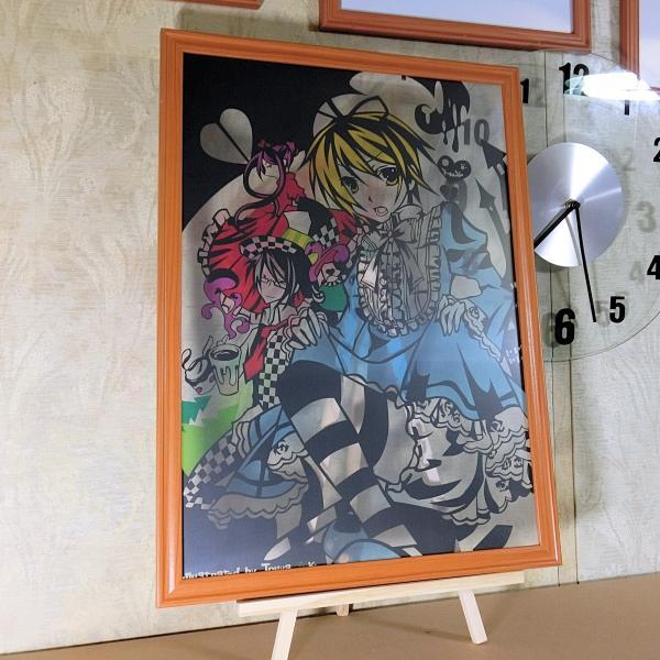 灯夜雪 「少年アリス(カラーVer)」 ふしぎの国のアリス 切り絵アート 額付き A3サイズ|importedstickers|04
