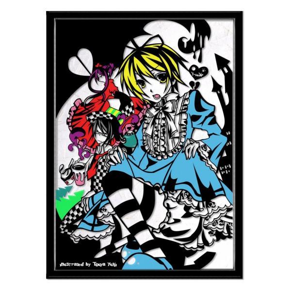 灯夜雪 「少年アリス(カラーVer)」 ふしぎの国のアリス 切り絵アート 額付き B4サイズ|importedstickers