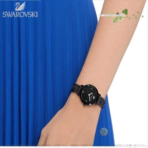 スワロフスキー コズミック ロック ウォッチ メタル ブレスレット ブラック 時計 5376071 Swarovski □