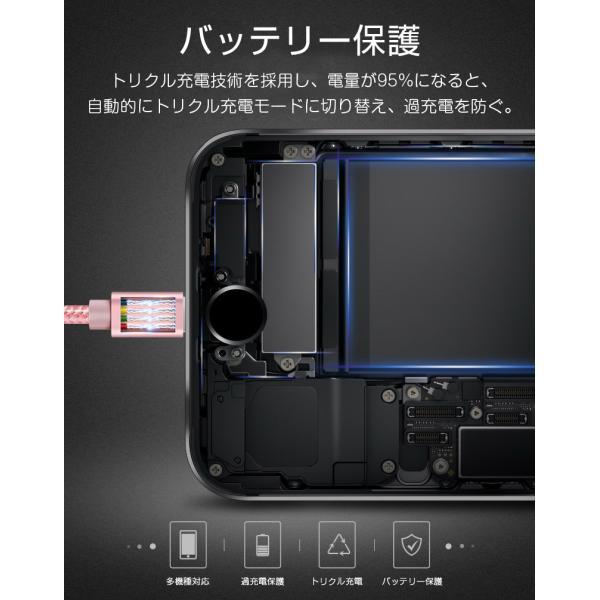 【最大15%OFF!クーポン対象】 iPhone 長さ 1.5m/1.0m/0.5m/0.25m 急速充電 データ転送 USBケーブル iPad XS Max XR X 8 7 6s PLUS 90日保証 合金製 importitem 12